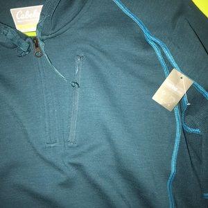 Cabela's women's Merino Wool quarter zip hoodie